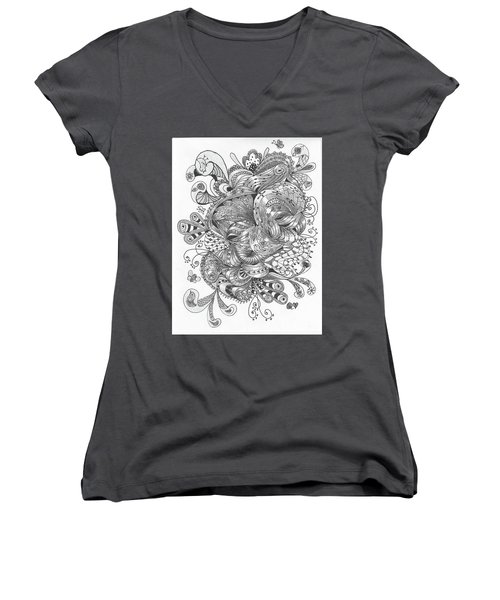 Abstract2 Women's V-Neck T-Shirt