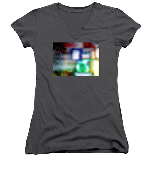 Abstraction  Women's V-Neck T-Shirt (Junior Cut) by Prakash Ghai