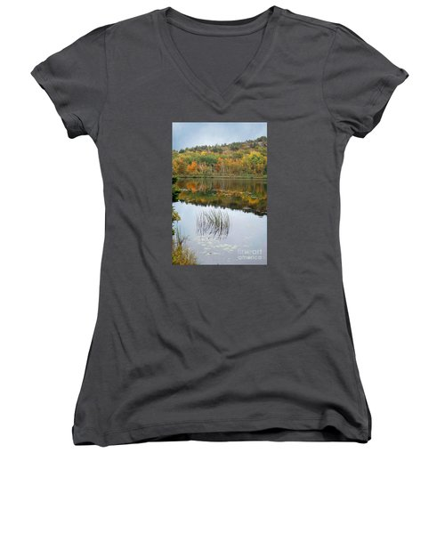 Acadia Autumn Women's V-Neck (Athletic Fit)