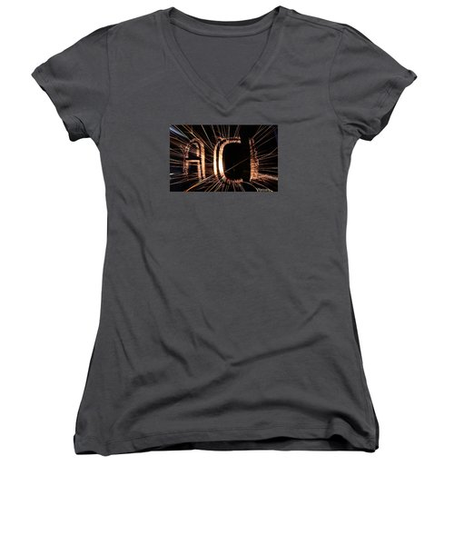 ACL Women's V-Neck T-Shirt (Junior Cut) by Andrew Nourse