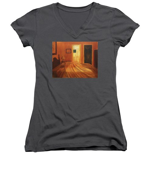 Across The Bed Women's V-Neck (Athletic Fit)
