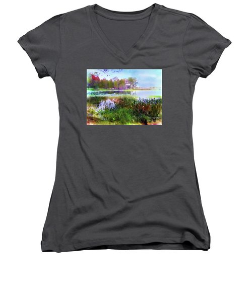 Across The Pond Women's V-Neck (Athletic Fit)