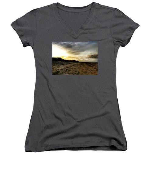 Across The Sands Women's V-Neck T-Shirt