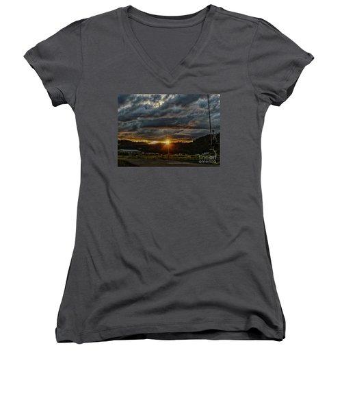 Across The Tracks Women's V-Neck T-Shirt