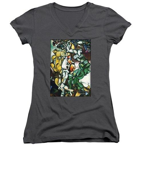 Adam And Eve Women's V-Neck T-Shirt