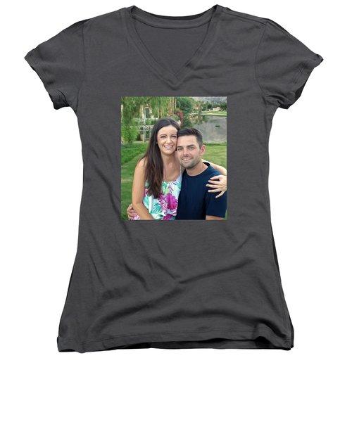 Adam And Lys Women's V-Neck T-Shirt (Junior Cut) by Michael Pickett