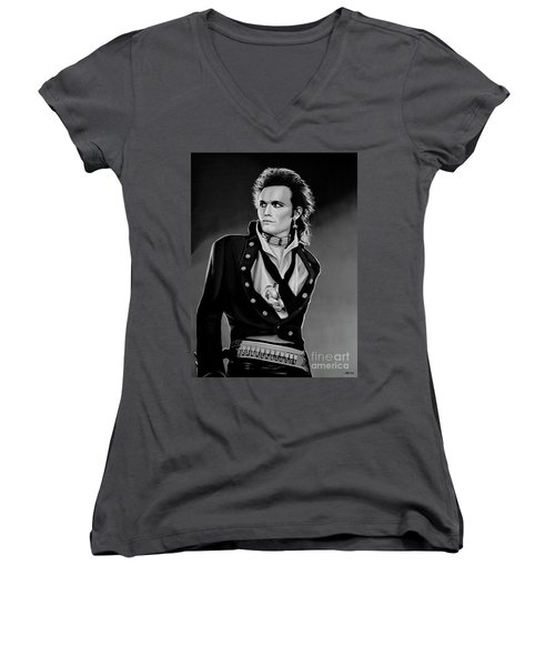 Adam Ant Painting Women's V-Neck (Athletic Fit)