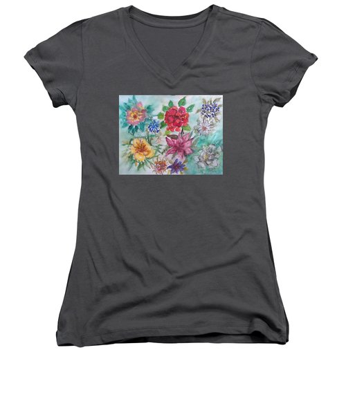 Adele's Garden Women's V-Neck T-Shirt