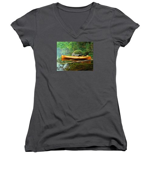 Adirondack Guideboat Women's V-Neck (Athletic Fit)