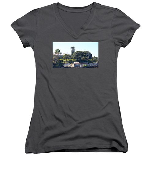 Women's V-Neck T-Shirt (Junior Cut) featuring the photograph Admiralty House by Stephen Mitchell