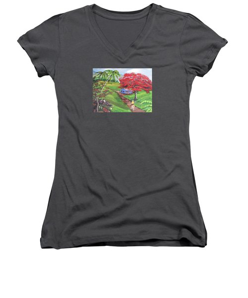 Admirando El Campo Women's V-Neck (Athletic Fit)