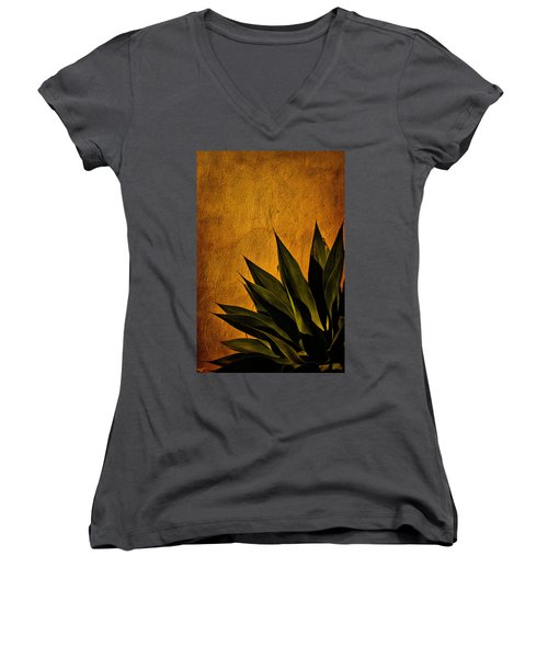 Adobe And Agave At Sundown Women's V-Neck T-Shirt
