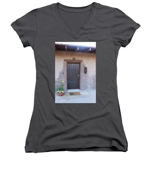 Adobe Door Women's V-Neck T-Shirt