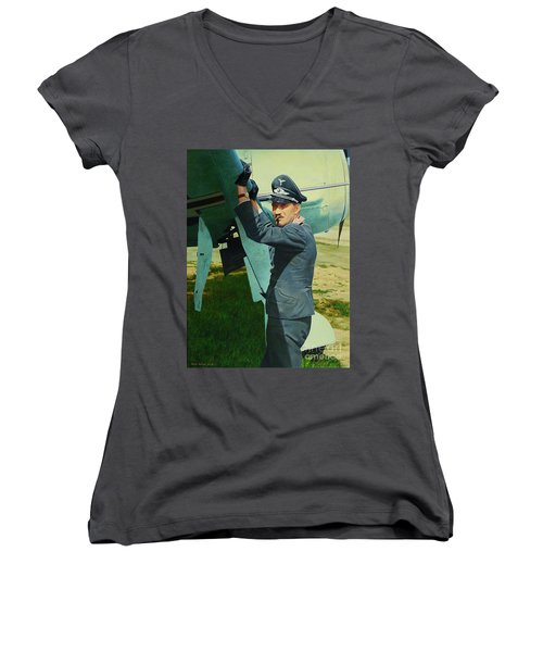 Adolf Women's V-Neck T-Shirt