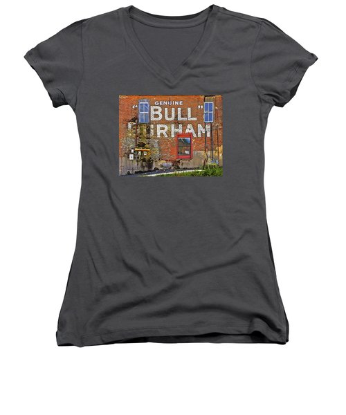 Advertising Of The Past Women's V-Neck T-Shirt (Junior Cut) by David and Carol Kelly