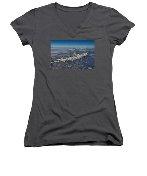Women's V-Neck T-Shirt (Junior Cut) featuring the photograph Aerial 3 by Steven Richman
