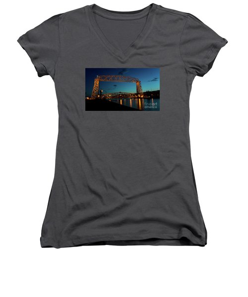 Aerial Lift Bridge Women's V-Neck T-Shirt