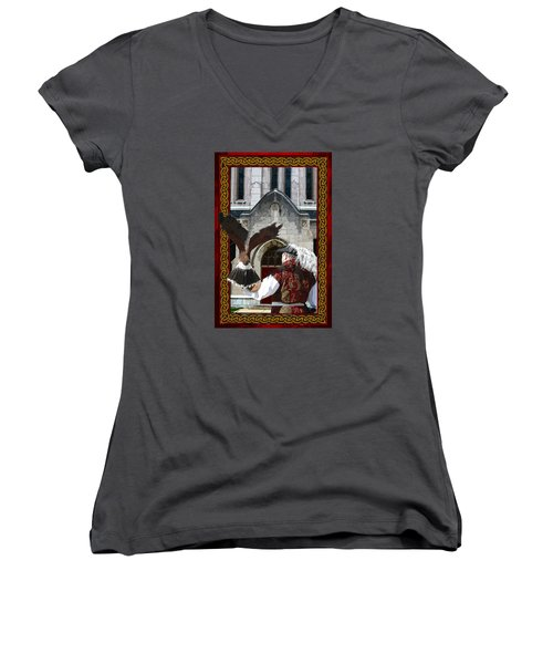 The Falconer Women's V-Neck T-Shirt
