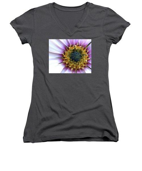 African Splendour Women's V-Neck T-Shirt (Junior Cut) by Baggieoldboy
