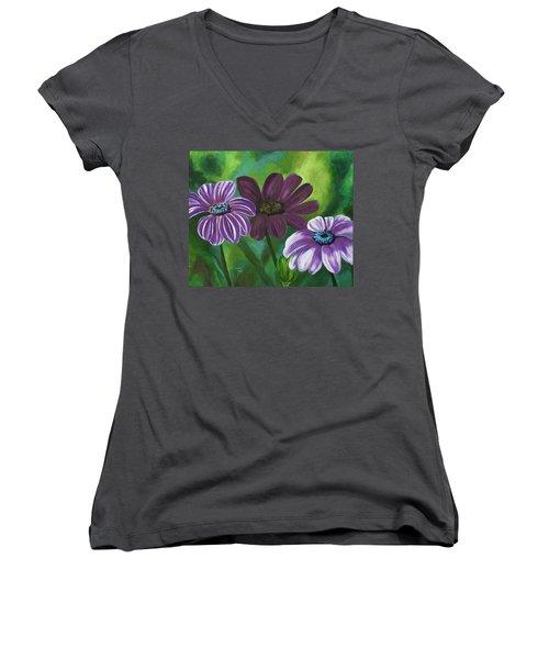 African Violets Women's V-Neck T-Shirt