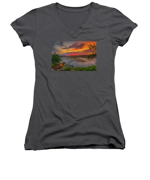 After A Rainy Night.... Women's V-Neck T-Shirt (Junior Cut) by Ulrich Burkhalter