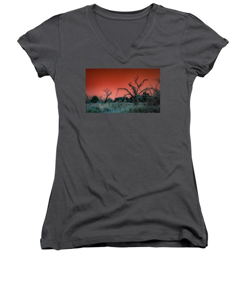 After The Hurricane Wars Women's V-Neck