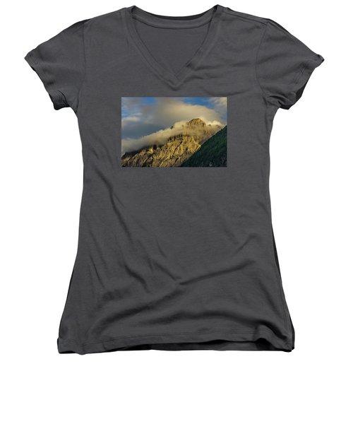 After The Rain In The Austrian Alps. Women's V-Neck T-Shirt (Junior Cut) by Ulrich Burkhalter