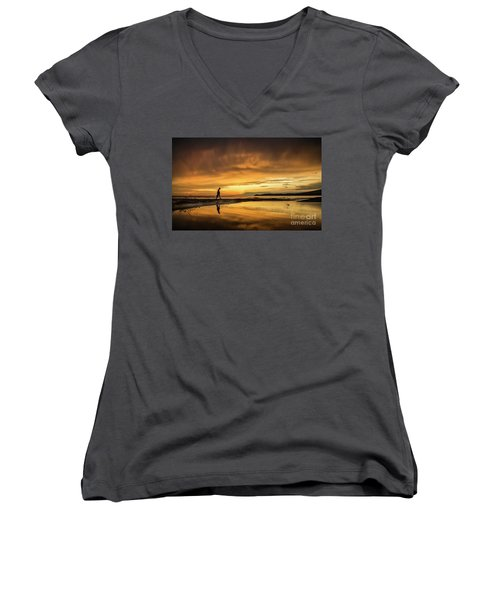 After The Storm Women's V-Neck (Athletic Fit)