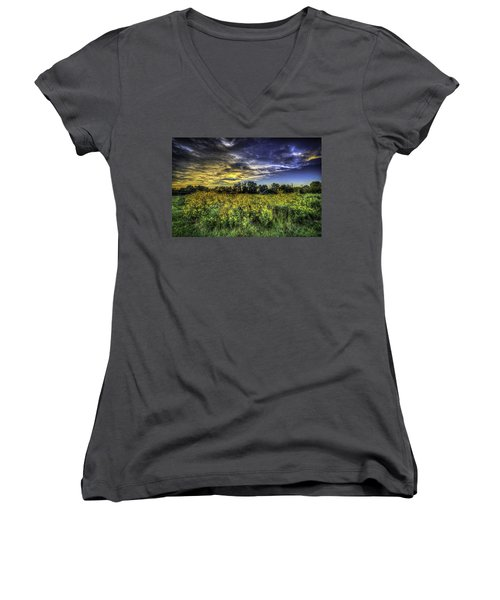 After The Storm Women's V-Neck