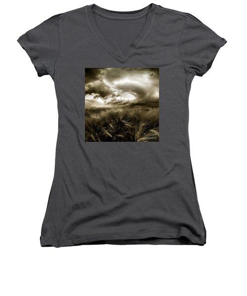 After The Storm  Women's V-Neck T-Shirt (Junior Cut) by Franziskus Pfleghart