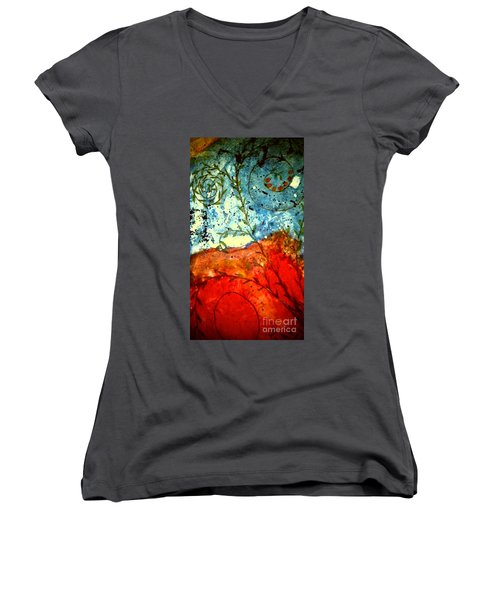 After The Storm The Dust Settles Women's V-Neck T-Shirt (Junior Cut) by Angela L Walker