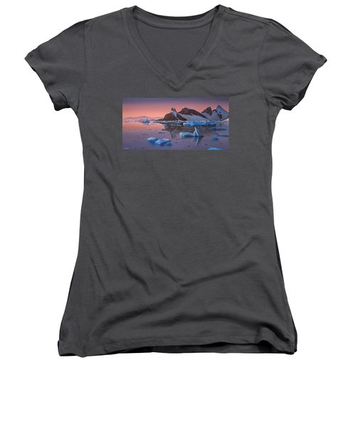 Afterglow Lemarie Channel Antarctica Women's V-Neck