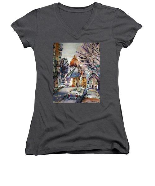 Afternoon Delight Women's V-Neck T-Shirt (Junior Cut)