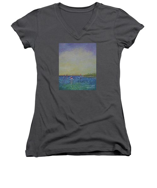 Afternoon Sailing Women's V-Neck (Athletic Fit)