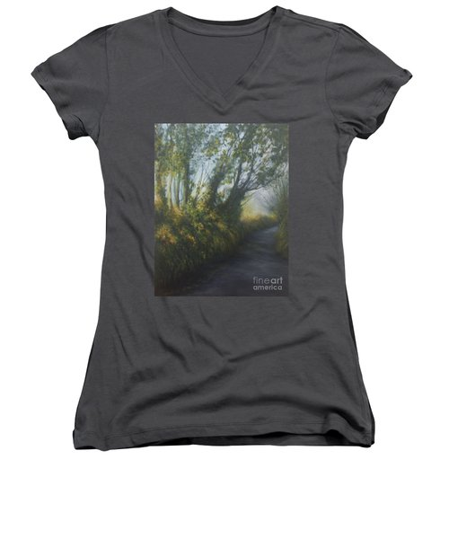 Afternoon Walk Women's V-Neck (Athletic Fit)