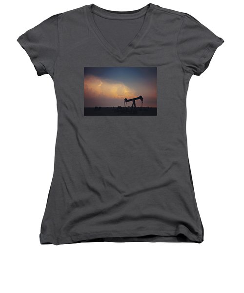 Against The Storm Women's V-Neck (Athletic Fit)