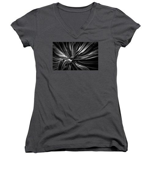 Agave Burst Women's V-Neck T-Shirt (Junior Cut) by Lynn Palmer