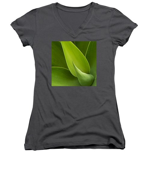 Agave Women's V-Neck T-Shirt (Junior Cut) by Heiko Koehrer-Wagner