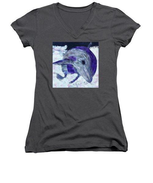 Airborne Women's V-Neck T-Shirt (Junior Cut) by Donald J Ryker III
