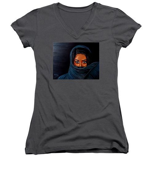 Al-andalus-1 Women's V-Neck T-Shirt (Junior Cut) by Manuel Sanchez