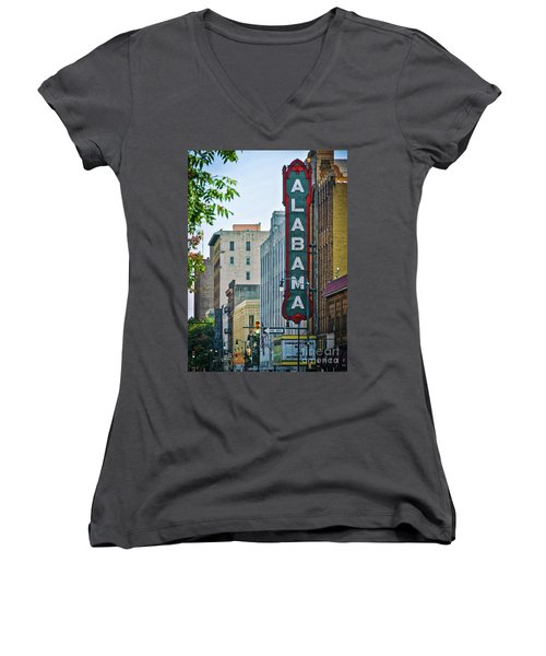 Alabama Theatre Women's V-Neck (Athletic Fit)