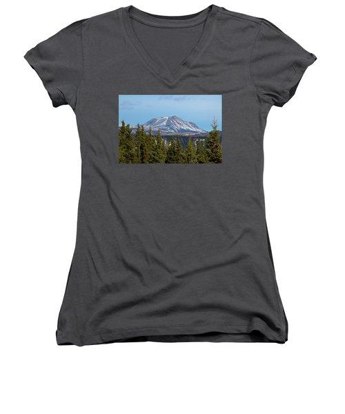 Alaska Range Women's V-Neck T-Shirt