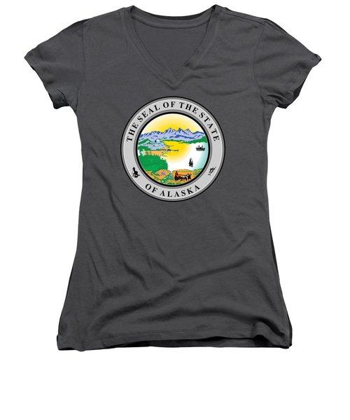 Alaska State Seal Women's V-Neck