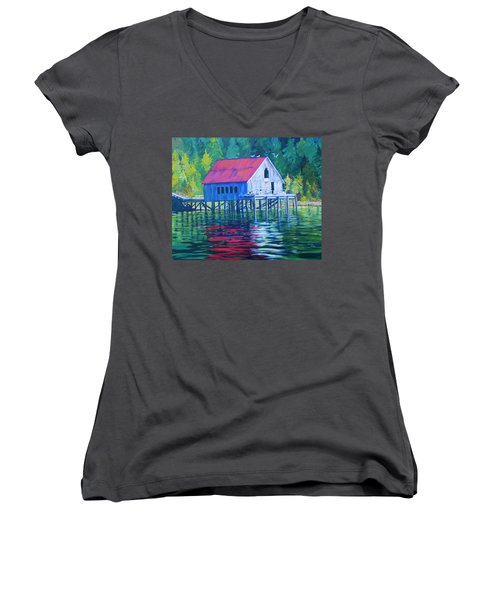 Alaskan Gear Shed Women's V-Neck (Athletic Fit)