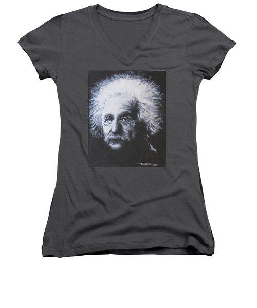 Albert Einstein Women's V-Neck