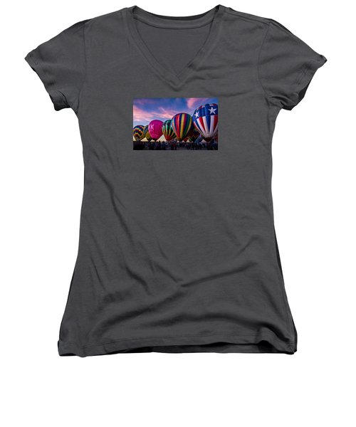 Albuquerque Hot Air Balloon Fiesta Women's V-Neck T-Shirt