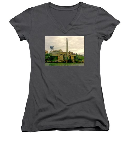 Alcatraz From The West Women's V-Neck T-Shirt