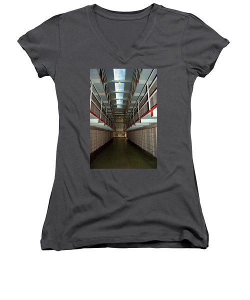 Alcatraz Revisited Women's V-Neck (Athletic Fit)