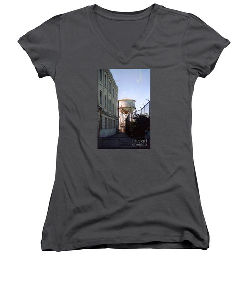 Alcatraz Water Tank  Women's V-Neck T-Shirt