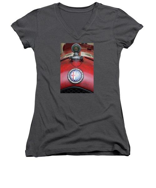 Alfa Romeo 8c 2600 Muletto Women's V-Neck T-Shirt